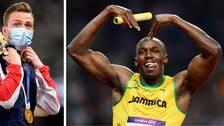 Efter sitt OS-guld fick Karsten Warholm en hälsning från Usain Bolt.