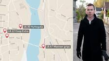 SVT:s reporter på plats – så rörde sig 37-åringen.