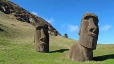 Stenstatyerna på Påskön är ett Unesco-arv som hotas av den globala uppvärmningen.