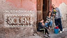Bill och Marie och barnen i Husdrömmar Sicilien.