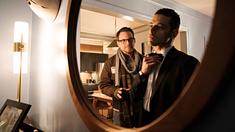 Christian Slater som Mr. Robot och Rami Malek somcElliot Alderson.