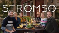 Jonas, Camilla, Lee, Jim, Elin och Anders i Strömsö.