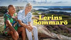 Lars Lerin och Junior i programmet Lerins sommarö.