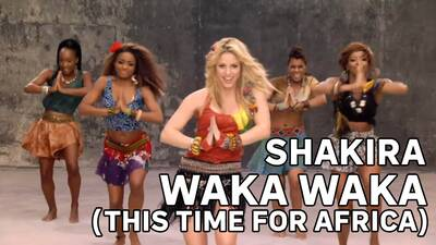 2. Shakira - Waka waka (This time for Africa)