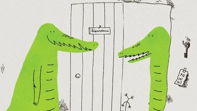 Krokodilen Pedro och alligatorn George