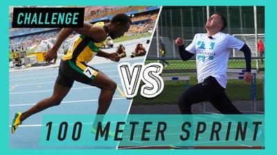 Vi testar världsrekordet på 100 meter!