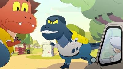 47. En dinosaurie