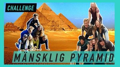 Kan du göra en mänsklig pyramid?