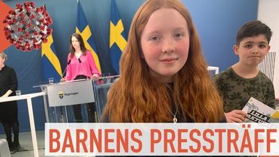 Vi ställer frågor på barnens presskonferens