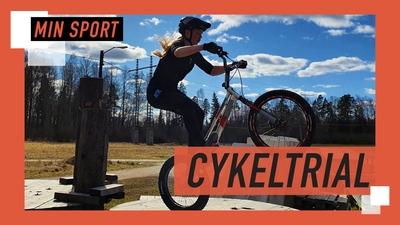 Hilda gör grymma tricks på cykeln!
