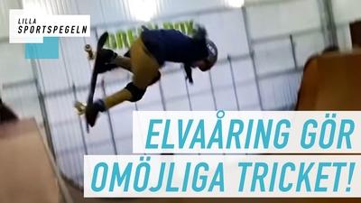 Se elva åringens historiska skateboardtrick!