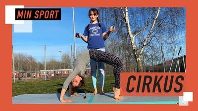 Vira och Lovis tränar cirkus hemma!
