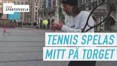 Folktomma gator ger tennis mitt i stan