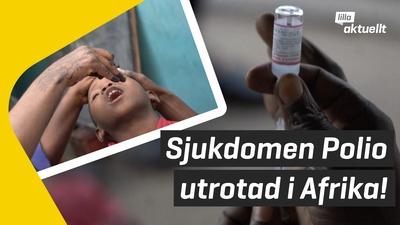 Sjukdomen polio utrotad i Afrika