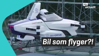 Kolla in den flygande bilen!