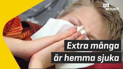 Fler hemma med sjuka barn
