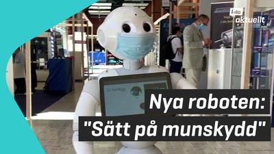 Roboten som påminner om munskydd