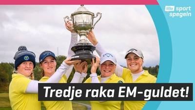 Svenska är golfdamerna är bäst i Europa!