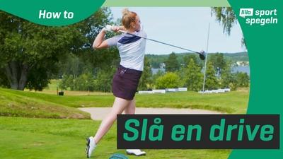 Lär dig slå ett långt och rakt golfslag!