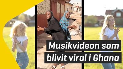 Musikvideon som blivit viral i Ghana