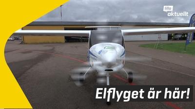 Första svenska elflyget i luften