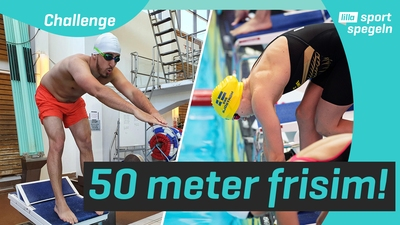 Vi försöker slå världsrekord i simning!
