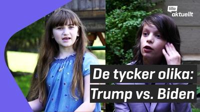De tycker helt olika om Trump och Biden