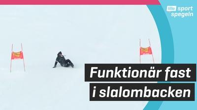 Hur brant är en slalombacke - det vet den här funktionären!