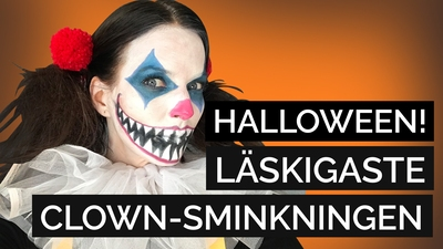 Creepy clown: sminkning