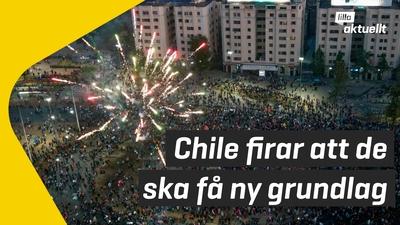 Människor röstade ja till ny grundlag i Chile