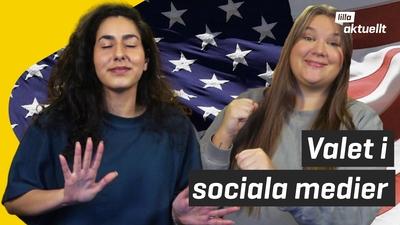 USA-valet på sociala medier