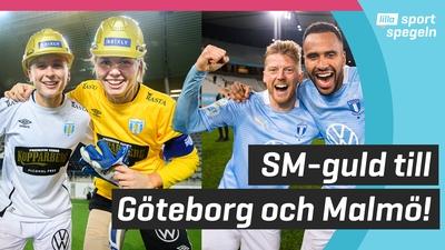 SM-guld till Göteborg FC och Malmö FF!