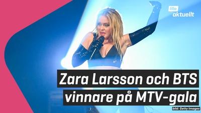 Zara Larsson och BTS prisades på MTV-gala
