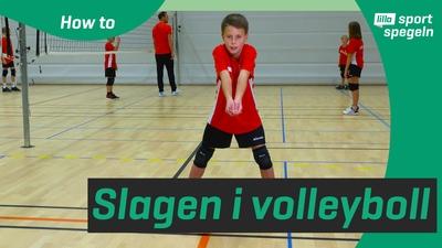 Lär dig hur man gör grundslagen i volleyboll