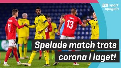 Sverige träningsspelade mot Danmark