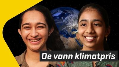 Vinisha och Aadya fick Children's Climate Prize