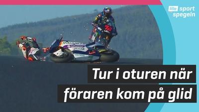 Motorcykelföraren Aron Canét undviker allvarlig