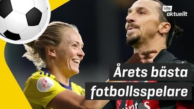 Fotbollspris till Zlatan Ibrahimović och Magdalena Eriksson