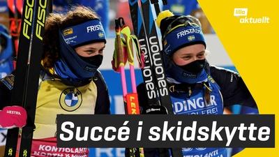 Skidskyttesegrar för svenskarna