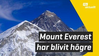Världens högsta berg har blivit högre