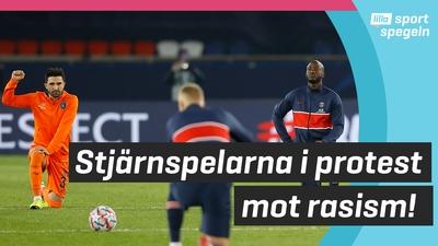 Protester efter rasism i Champions League