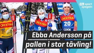 Ebba Andersson kom trea i Tour de Ski!
