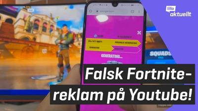 Falsk reklam försöker tjäna pengar på Fortnite