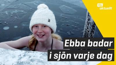 Ebba badar på vintern