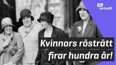 Hundra år sedan kvinnor fick rösträtt
