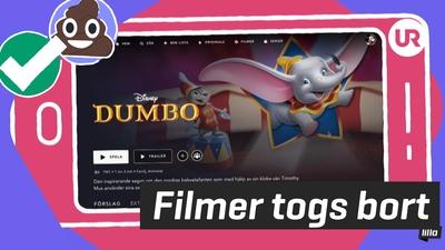 Disney tog bort filmer på barnkonto