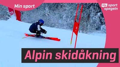 Vi testar Super G med Gävle Alpina!
