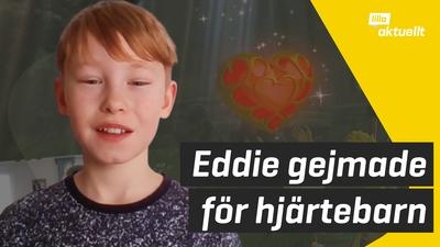 Eddie samlade in pengar till barn med hjärtfel