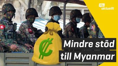 Mindre pengar från Sverige till Myanmar