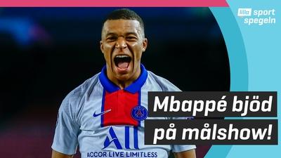 Kylian Mbappé historisk målskytt mot Barcelona